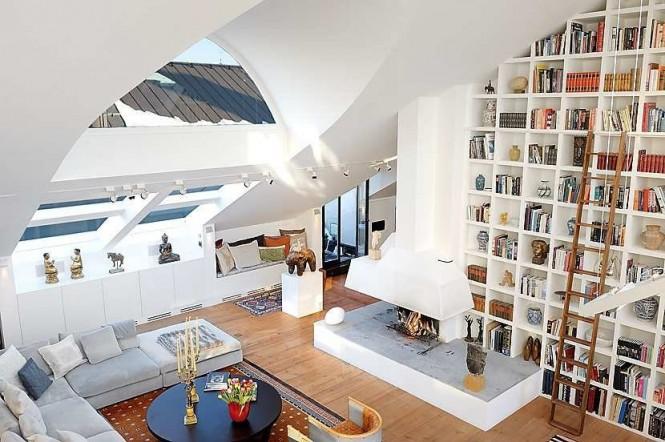 طراحی خانه هایی با سقف بلند