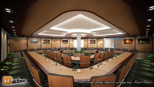 نمونه کار طراحی سالن اجلاس (وی آی پی مدیریتی)