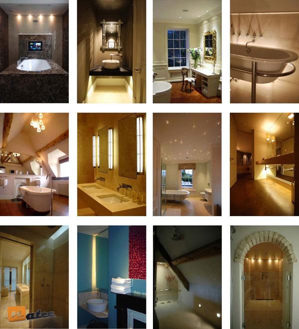 چند ایده برای نورپردازی حمام