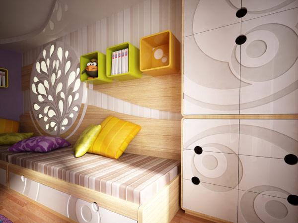 طراحی اتاق کودک و نوجوان از آثار گروه نئوپلیس