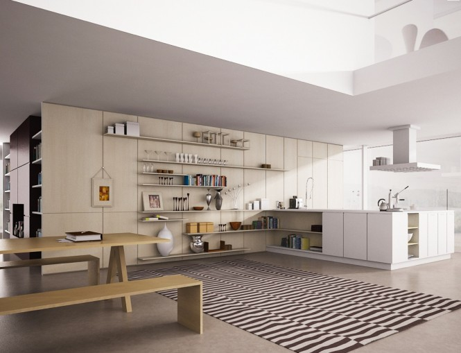 ایده هایی برای قفسه ها و اوپن در آشپزخانه