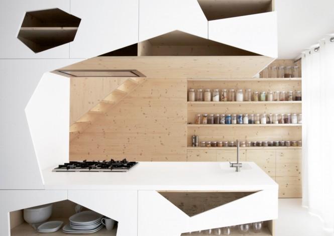 ایده هایی برای قفسه ها و اوپن آشپزخانه
