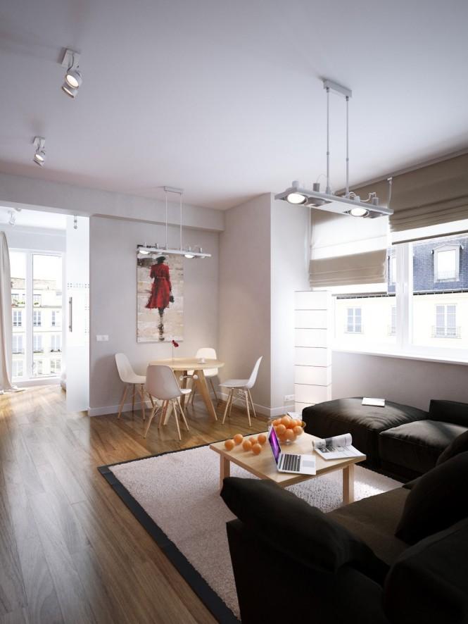 طراحی آپارتمان برای زوجهای جوان