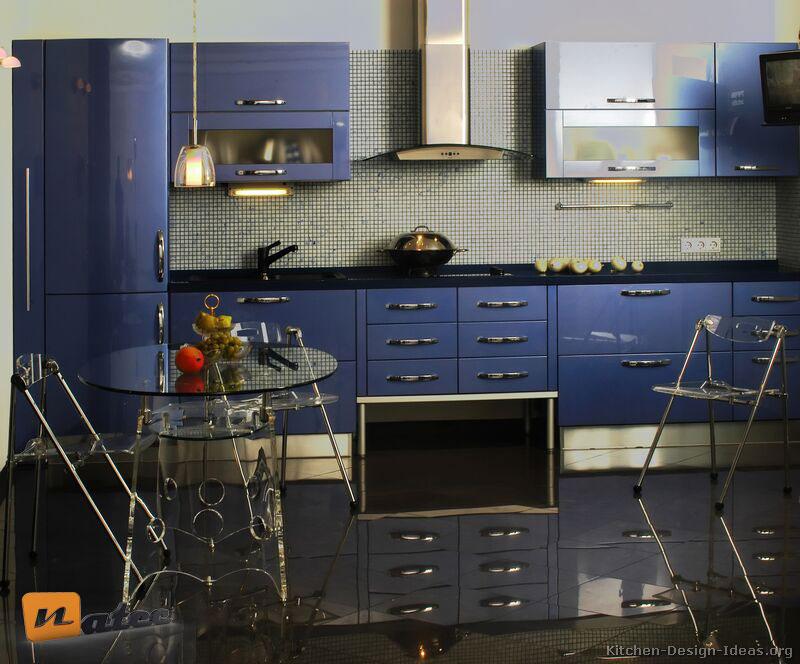 کابینت به رنگ آبی