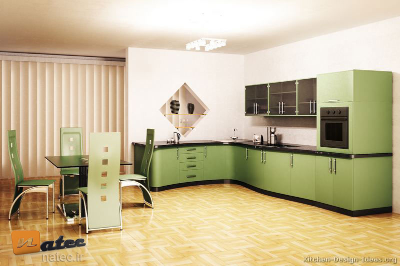 کابینت به رنگ سبز