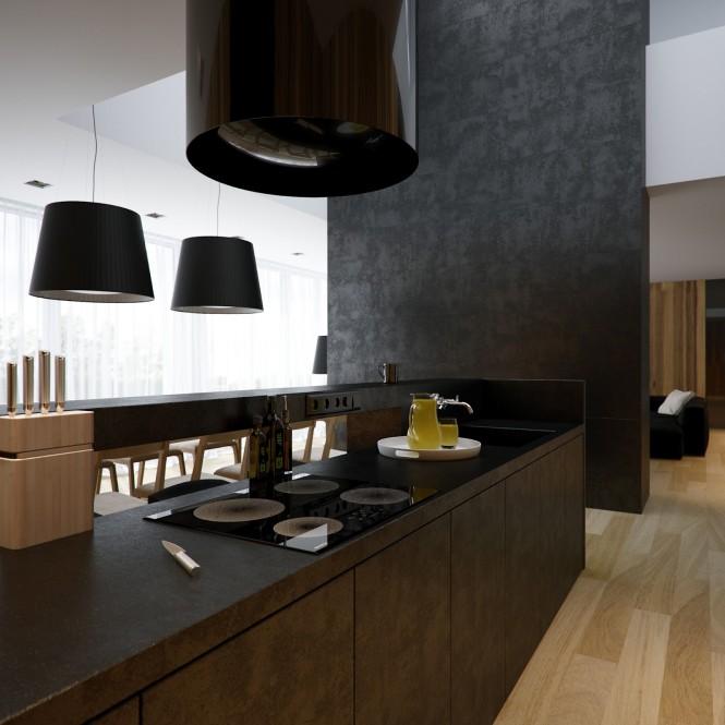 نمونه کار طراحی و دکوراسیون داخلی با چوب و سنگ