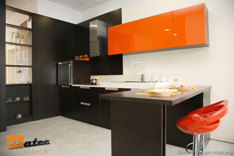 کابینت به رنگ پرتقالی