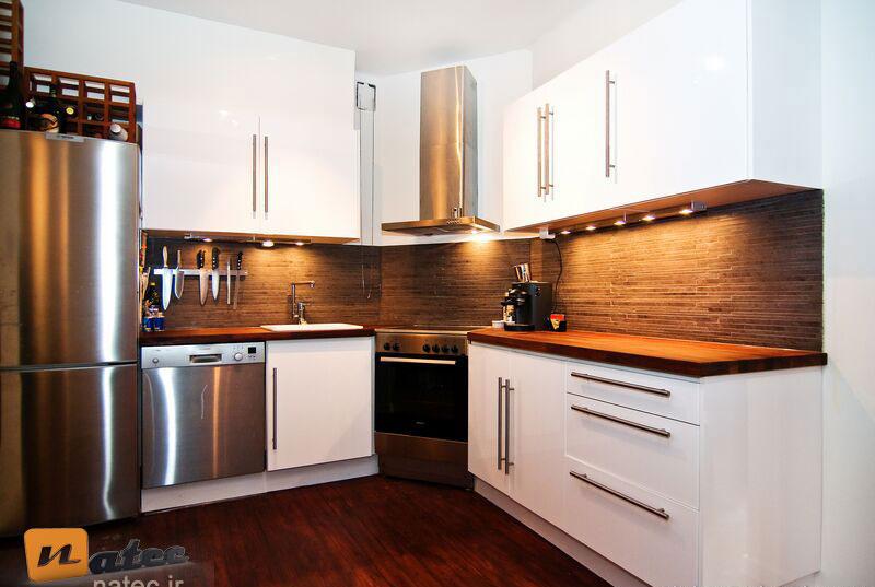 رنگ بندی سفید در آشپزخانه های مدرن