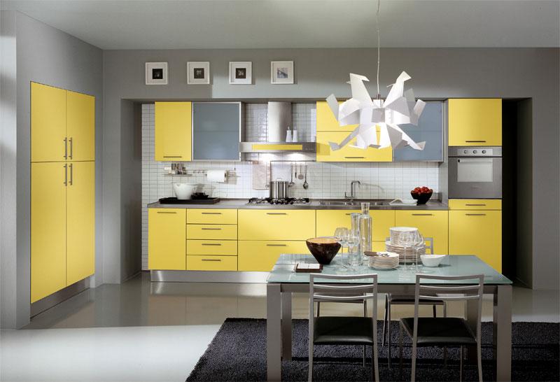 رنگ بندی زرد در آشپزخانه های معاصر