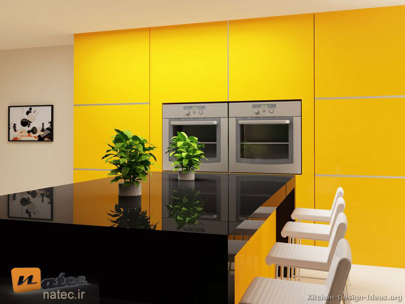 کابینت به رنگ لیمویی