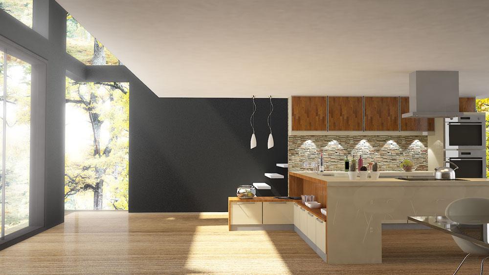 نمونه کار دانشجویی طراحی آشپزخانه