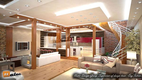 نمونه کار طراحی منزل ویلایی در کرمانشاه