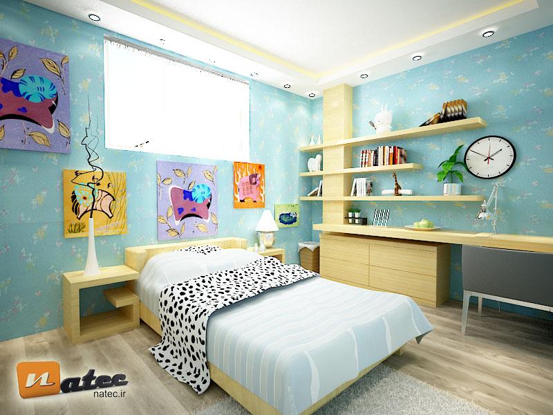 نمونه کار طراحی اتاق خواب کودک